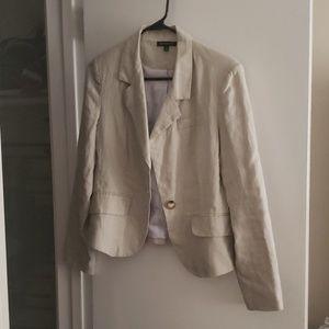 Tan linen blazer
